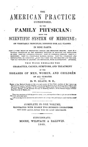 The American Practice Condensed  Or  The Family Physician