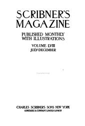 Scribner's Magazine: Volume 58