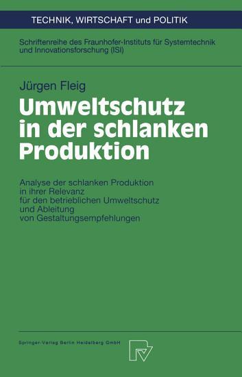 Umweltschutz in der schlanken Produktion PDF