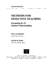 Methods For Effective Teaching Book PDF