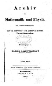 Archiv der Mathematik und Physik: Band 1