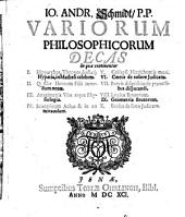 Variorum philosophicorum decas