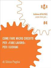 Come fare microcredito per fare lavoro per i giovani: Attraverso il microcredito, un'iniziativa per avviare all'esperienza di impresa giovani under-35 nella provincia di Bologna