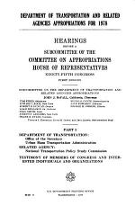 Department of Transportation and Related Agencies Appropriations for 1978