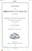 Zeitschrift der Gesellschaft f  r Erdkunde zu Berlin PDF