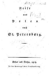 Reise aus Polen nach St. Petersburg. [By C. H. J. Schlegel.]