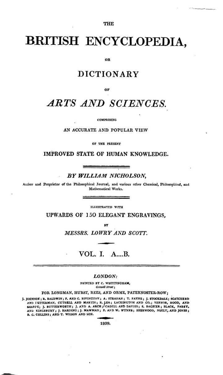 The British Encyclopedia, Or Dictionary of Arts and Sciences