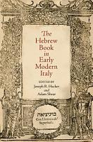 The Hebrew Book in Early Modern Italy PDF