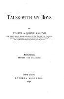 Talks with My Boys PDF