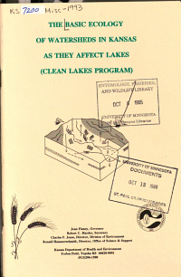 The Basic Ecology of Watersheds in Kansas as They Affect Lakes PDF