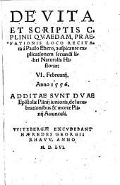De vita et scriptis C. Plinii