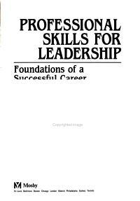 Professional Skills for Leadership