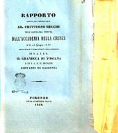 Rapporto letto dal segretario ab. Fruttuoso Becchi nell'adunanza tenuta dall'Accademia della Crusca il di 26 giugno 1838