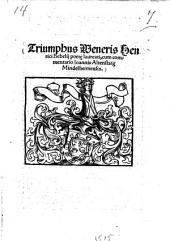 Triumphus Veneris ¬Henrici ¬Bebelii