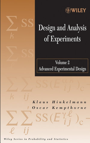 Design and Analysis of Experiments  Volume 2