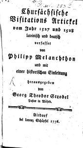 Articuli De Quibus Egerunt Per Visitatores In Regione Saxoniae