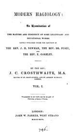 Modern hagiology [by J.C. Crosthwaite]. By J.C. Crosthwaite