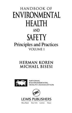Handbook of Environmental Health and Safety PDF