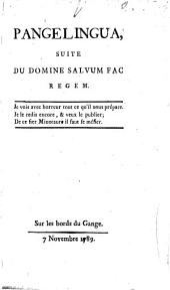 Pangelingua, suite du Domine salvum fac regem