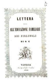 Lettera intorno all'educazione familiare dei figliuoli di G. C