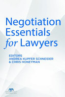 Negotiation Essentials For Lawyers Book PDF