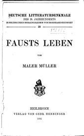 Fausts Leben