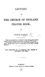 Lectures on the Church of England Prayer Book