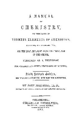 A MANUAL OF CHEMISTRY ON THE BASES OF TURNERS ELEMENTS OF CHEMISTRY