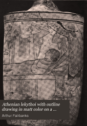 Athenian lekythoi with outline drawing in matt color on a white ground