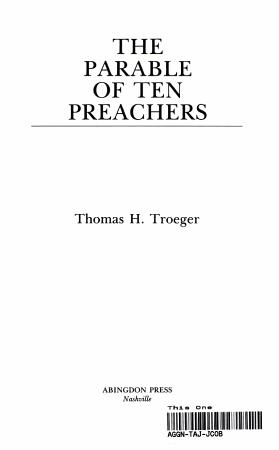 The Parable of Ten Preachers PDF