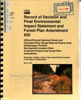 Gifford Pinchot National Forest  N F   and Columbia River Gorge National Scenic Area  Site specific Invasive Plant Treatment Project PDF
