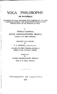 Yoga Philosophy of Pata  jali PDF