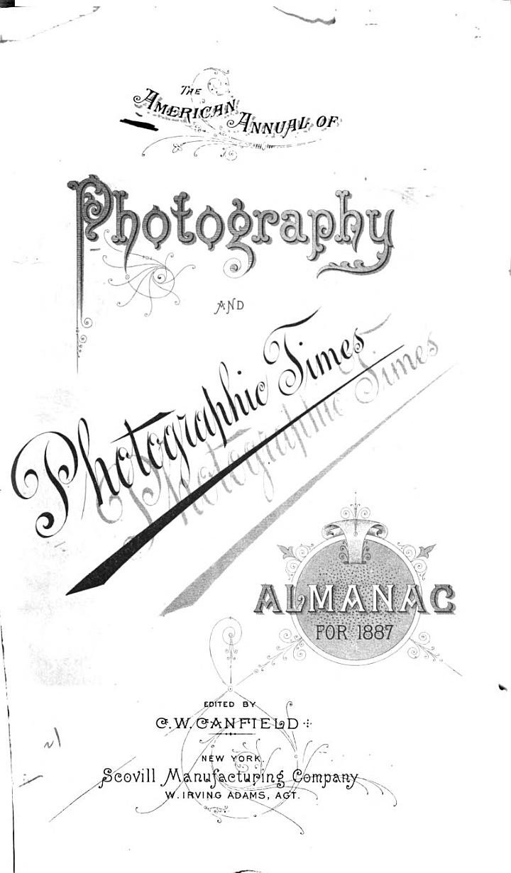 American Annual of Photography and Photographic Times Almanac