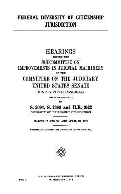Federal Diversity of Citizenship Jurisdiction PDF