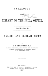 Catalogue of the Library of the India Office: pt. 1. Sanskrit books [by] R. Rost. 1897