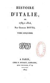 Histoire d'Italie, de 1789 à 1814: Volume5
