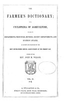 The Farmer's Dictionary; Or A Cyclopedia of Agriculture