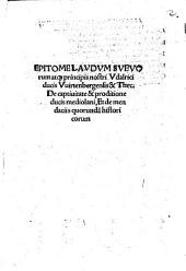 Epitome laudum Suevorum atque principis nostris Udalrici