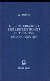 Der Unterschied der Lehren Humes in Treatise und im Inquiry.
