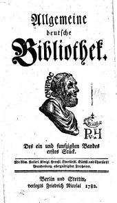 Allgemeine deutsche Bibliothek: Band 51