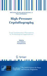 High Pressure Crystallography