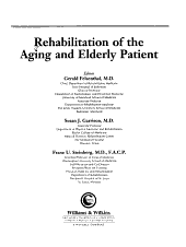 Rehabilitation of the Aging and Elderly Patient