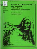 Oil and Gas Exploration and Leasing Within the Washakie Wilderness PDF