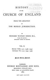 History of the Church of England: From the Abolition of the Roman Jurisdiction, Volume 2