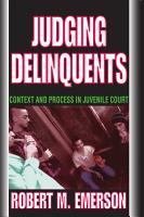 Judging Delinquents PDF