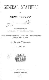 General Statutes of New Jersey: Volume 3