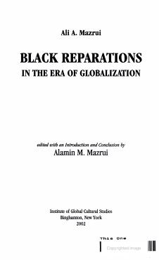 Black Reparations in the Era of Globalization PDF