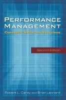 Performance Management  Concepts  Skills and Exercises PDF