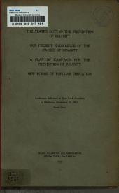 Addresses Delivered at New York Academy of Medicine, December 23, 1910