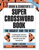 Simon and Schuster Super Crossword Puzzle Book  13 PDF
